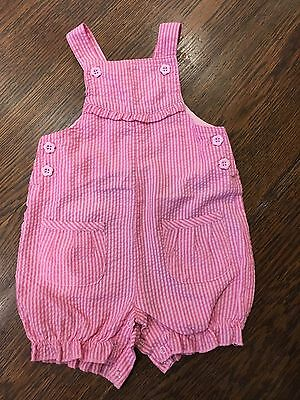 Baby Girls Pink Dungarees 3-6 Months