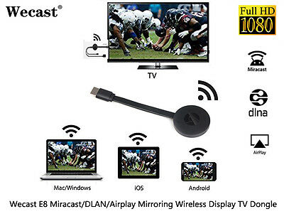 Google Chromecast 2 Miracast WIFI HDMI Dongle pour Android /IOS / Windows /Mac