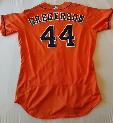 Luke Gregerson game worn 2016 Los Astros home jersey; MLB authenticated