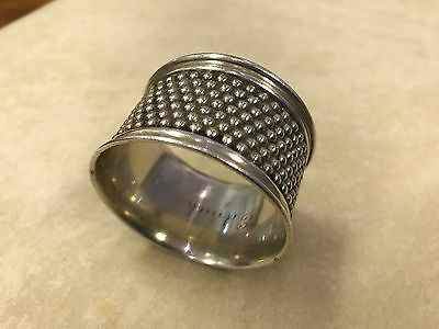 c1915 Heavy Wide TIFFANY & CO. Sterling Silver 'Nailhead' Napkin Ring 2.1 0z A-1