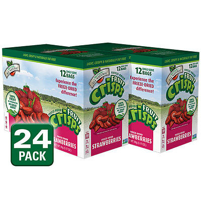 Brothers-ALL-Natural Freeze-dried strawberry Fruit Crisps 24 packs
