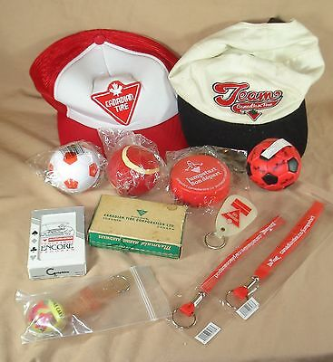 Canadian Tire Collectible Ball Cap And Premium Lot