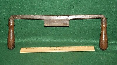 """Early Primitive Coopers Carpenters Drawknife Measuring 5"""" x 16-1/2"""" L Inv#C39"""