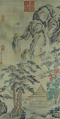 Gorgeous Hand Painted China Chinese Watercolor Scroll Painting Scholar Art