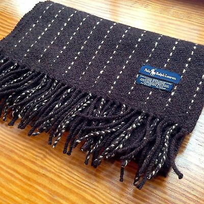 POLO Ralph Lauren 100% CASHMERE SCARF Made in England MINT!
