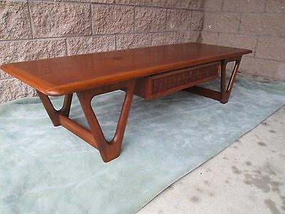 "Mid Century Danish Modern Coffee Table By Lane ""Perception Line""  GREYHOUND SHIP"