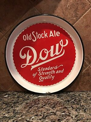Antique Dow Old Stock Ale Montreal, Quebec Porcelain Beer Tray!