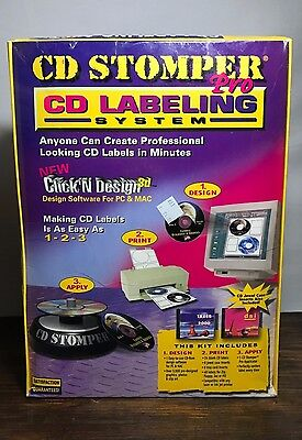 *NEW* CD Stomper Pro - CD Labeling System With Click'N Design Software Included