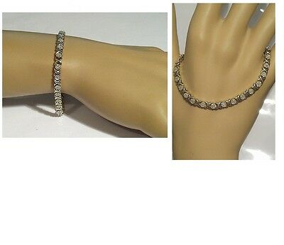 Vintage Michael Hill - Dazzling 1.20ct Diamond Tennis Bracelet - 9ct Yellow Gold