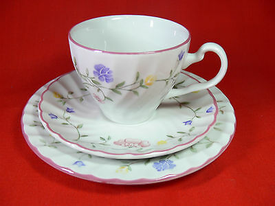 Johnson Brothers SUMMER CHINTZ Cup, Saucer & Plate Trio - Made in England - VGC