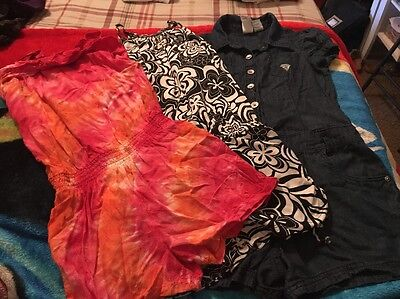 Girls Rompers Size 8, Lot Of 3 Justice, Guess
