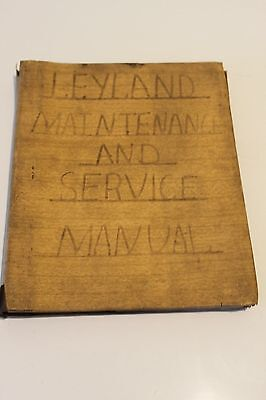 Leyland Maintenance and Service Manual for Diesel Industrial Unit