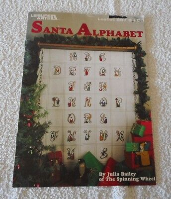 SANTA ALPHABET COUNTED CROSS STITCH CHART by Julia Bailey