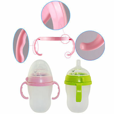 2PCS Plastic Bottle Handle Holder for Comotomo Feeding Baby Bottles Candy Color