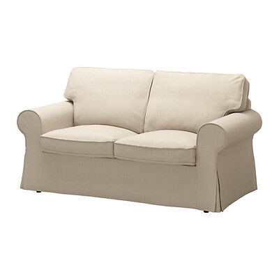 NEW Ikea Ektorp COVER SET ONLY for 2 seat sofa in Ramna beige