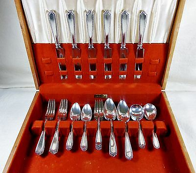 Gorham Silverplate Westminster Pattern 37 Piece Dinner Set  Chest Not Included