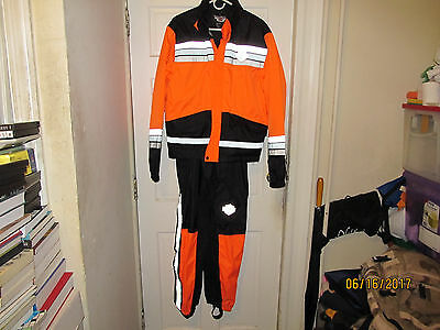 Harley Davidson Rain Gear Suit  Black / Orange - Size S (Men's)