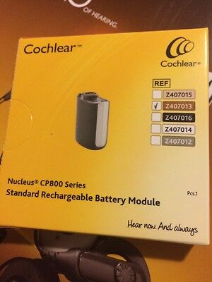 Cochlear Nucleus 5 CP800 Series Rechargeable Battery Module (Brown) NEW