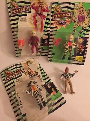 Beetlejuice Action Figures New Nib Kenner 1989 Lot