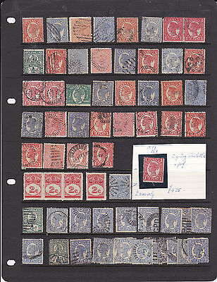 STAMPS..Australia..Queensland x  65 , QUEENS..., used,, incl,duty perforations ,