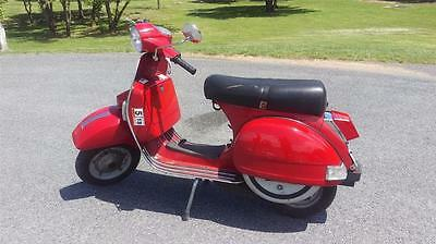 2008 Stella Vespa PX 150 Piaggio Scooter 2 Cycle Manual Runs Great Video