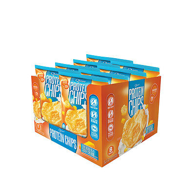 Quest Protein Chips | Box of 8 | Cheddar & Sour Cream |