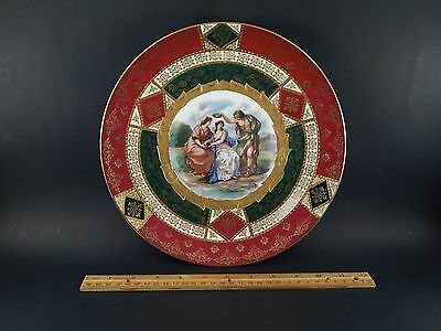 Antique Vintage Royal Vienna Porcelain 154010 Painted  Display Plate 10 3/4""