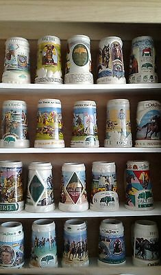 For Sale 24 Limited Edition Beer Steins with Custom Cabinet