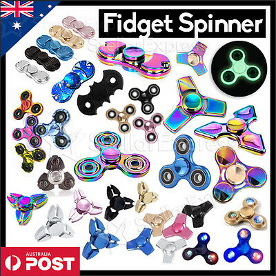 3D FIDGET HAND SPINNER Aluminium EDC Focus Stress Toys For Kids Adults【AU