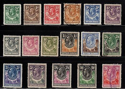 GB Colony Northern Rhodesia 1925 - 11929 Sc 1 - 17 Complete Set Many Mint