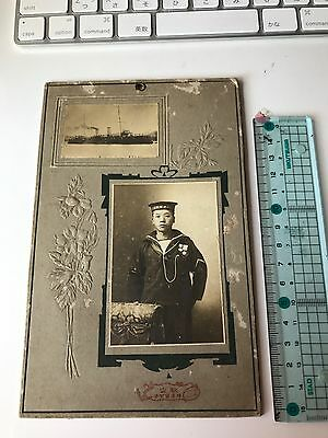 Antique Japan Yokosuka 横須賀 Base Navy And Warship Real Photography