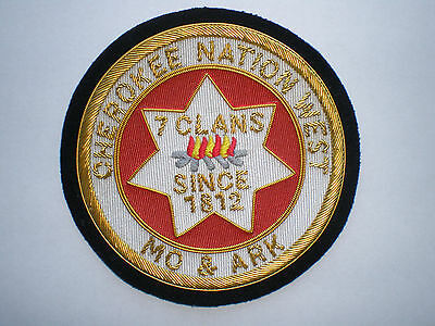 MO & AR Cherokee Nation West 7 Clans Indian Tribes Tribal police BULLION patch