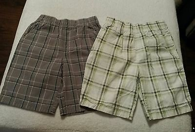 Lot Of 2 Boys Summer Plaid Shorts Size 6 - 1 Okie Dokie, Size 5/6 1 Open Trails
