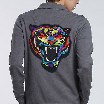 Tiger Head Embroidered Cloth Patch Sew Iron On Jacket Jeans Crafts Applique
