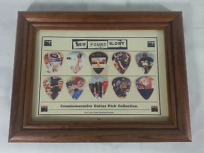 ✪ New Found Glory Commemorative 10 Piece Guitar Pick Collection Framed