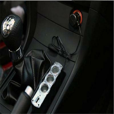 12V Three Way Triple Car Cigarette Lighter Socket Splitter Charger Adapter YA