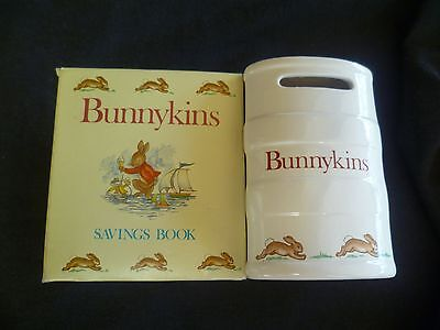 Bunnykins Savings Book Royal Doulton 80's new old never been used