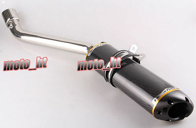Carbon Fiber Steel Exhaust Muffler Silencer For SUZUKI GSXR 1000 K7 2007 2008