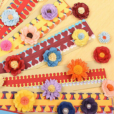 10PCS Color flower paper rolling stereo DIY handmade paper quilling material