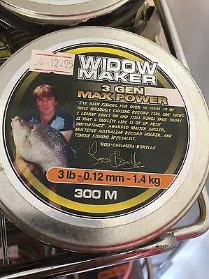 3lb 300m spool Widow Maker Max Gen3 QUALITY Monofilament Mono Nylon Fishing Line