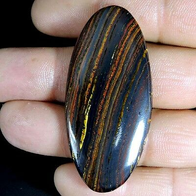 LARGE 79.65cts NATURAL ROYAL DESIGNER IRON TIGER OVAL CABOCHON TOP GEMSTONE