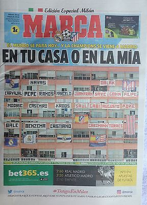 2016 REAL MADRID v ATLETICO CHAMPIONS LEAGUE FINAL PROGRAMME MARCA NEWSPAPER