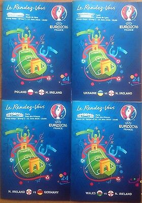 EURO 2016 PROGRAMME SET NORTHERN IRELAND v POLAND UKRAINE GERMANY WALES