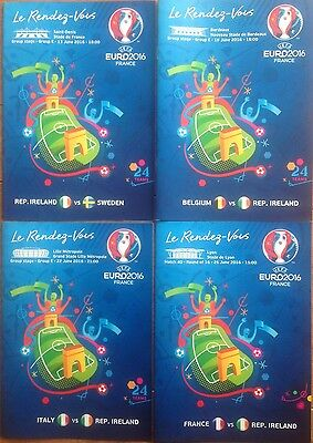 EURO 2016 FINAL TOURNAMENT PROGRAMME SET IRELAND v SWEDEN BELGIUM ITALY FRANCE