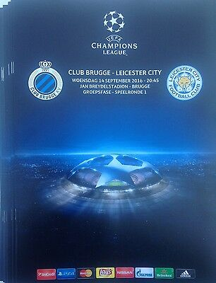 2016 CLUB BRUGGE v LEICESTER CITY CHAMPIONS LEAGUE PROGRAMME