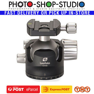 Leofoto LH-55 Low Profile Ball Head  ( Double-Action) New Knob with Rubber Ring