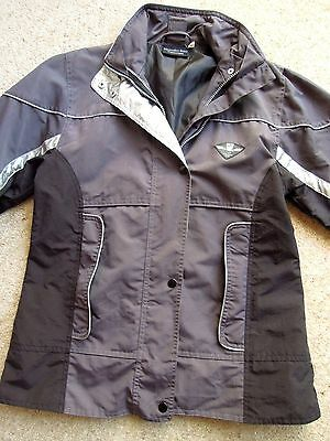 MERCEDES-BENZ COLLECTION  JACKET   * WOMENS 12   Black and Grey / Silver Flash