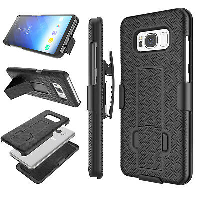 SAMSUNG GALAXY S8 + / S8 Plus SHELL HOLSTER BELT CLIP CASE COVER WITH KICKSTAND