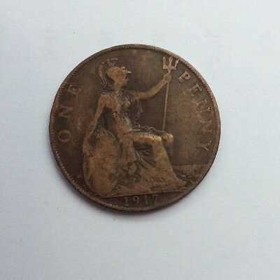 One Penny Coin 1917 George V