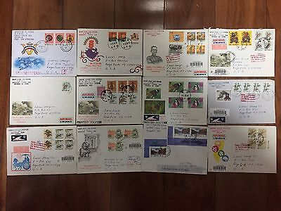 12 Republic Of China Taiwan Cover Lot To USA